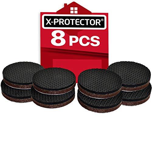 X-PROTECTOR Anti Rutsch Pad – 8 Premium Gummifüße selbstklebend 50mm - Rutschhemmer für MöbelAntirutschpads - Beste Möbelstopper - Ideale Filzgleiter Gummi zum Fixieren von Möbeln!