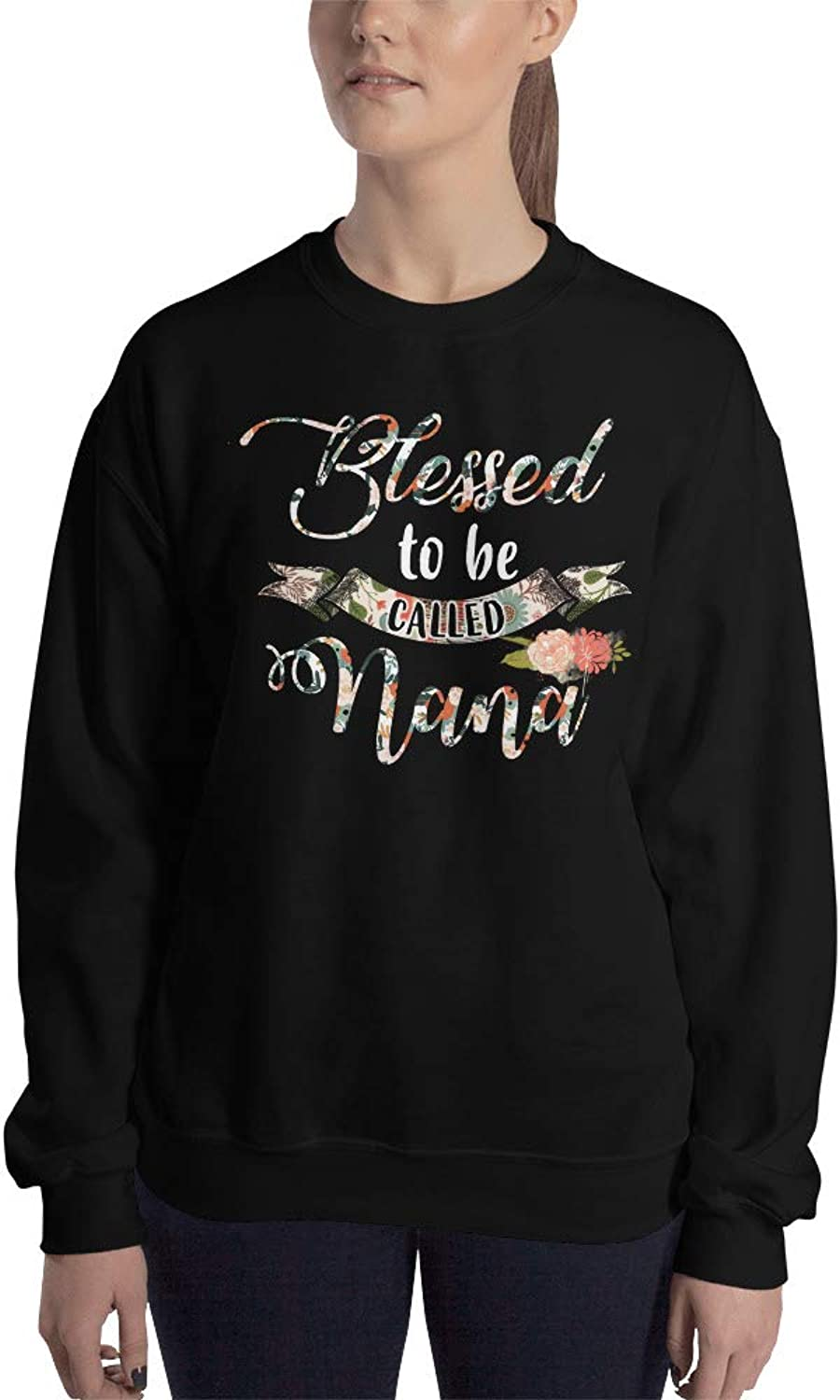 Payatek Blessed to Be Called Nana Unisex Sweatshirt Meaningful Present for Grandmother