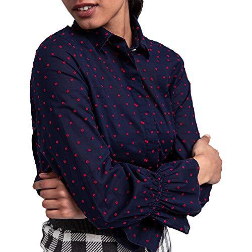GANT Smock Dot Dobby Damen Hemd Gr. Small, blau (classic blue)