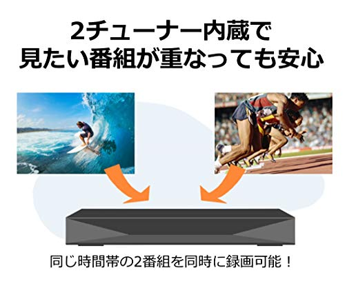 『パナソニック 1TB 2チューナー ブルーレイレコーダー DIGA DMR-2W100 おうちクラウド 4Kアップコンバート対応』の3枚目の画像