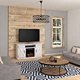 Twin Star Home Cottonwood 55' TV Stands with Electric Fireplace, Sargent Oak