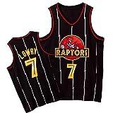 HRTE Raptors #7 Lowry #43 Siakam - Camiseta de baloncesto para hombre, transpirable, sin mangas, con logotipo, uniforme de entrenamiento de equipo de secado rápido, color negro ~ Lowry-L