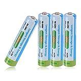 Tera Batería Rrecargable AAA Ni-MH 900mAh 1.2V Batería para Teléfonos Inalámbrico Siemens para 1200 Veces Uso Paquete de 4