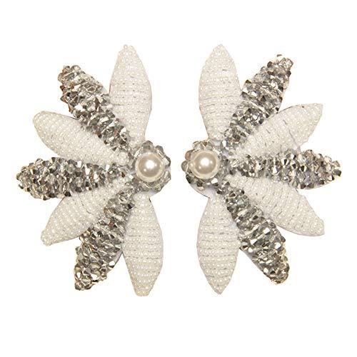 Peigne de Cheveux de mariée Bendable Crystal Accessoire de Cheveux pour Les Femmes Mariage pièce de tête Peigne de Cheveux côté (Argent, Unique)