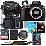 Nikon D3500 DSLR Body Only Camera Bundle + Accessory Kit Including Photo & Video Editing Software Package