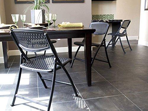 Mity-Lite Flex One Folding Chair, Black (4-pack)