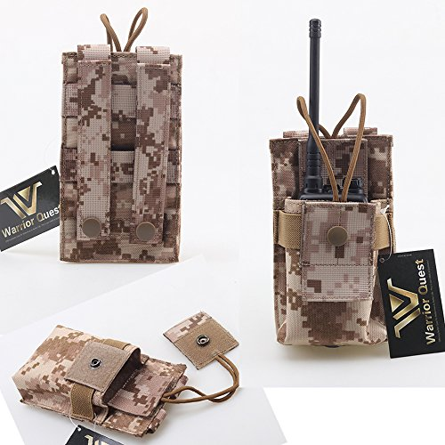 Warrior Quest Adjustable 1000D Nylon Short Radio Pouch – Molle Radio Pouch Tactical Radio Holster (AOR1 Camo) …