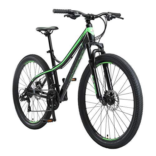 BIKESTAR Hardtail Mountain Bike in Alluminio, Freni a Disco, 27.5 | Bicicletta MTB Telaio 17 Cambio Shimano a 21 velocità | Nero Verde
