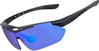 YaXDS Sunglasses, Protect Eyes Tr90 Unbreakable Personality Fashion Frame Polarized Sports Sunglasses Prevent Glare Blocks Harmful Light Car Driving Glasses Retro (Color : Blue)