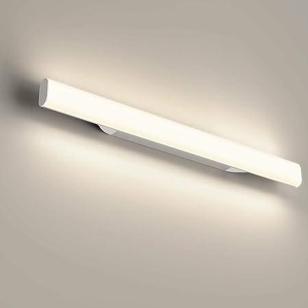 OOWOLF Applique salle de Bain,44cm Lampe Miroir salle de Bain,Lumiere salle de Bain,LED 12W 1200LM 4000K Blanc Neutre Lumineux Pas de Scintillement Pour salle de Bain etc.