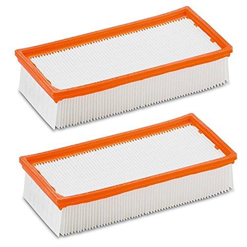 2 x Flachfaltenfilter Filter für original Kärcher NT 25/1 Ap, NT 35/1 Ap, NT 35/1, NT 45/1, NT 55/1, NT 361, NT 561, NT 611 Tact, Te, M, Eco ersetzt orginal 6.904-367.0 (2 Stück)