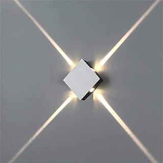 Goeco Lampada da Parete Moderna LED 6W, Lampada a Muro Decorativa Quadrata, per Corridoi Scale Soggiorni