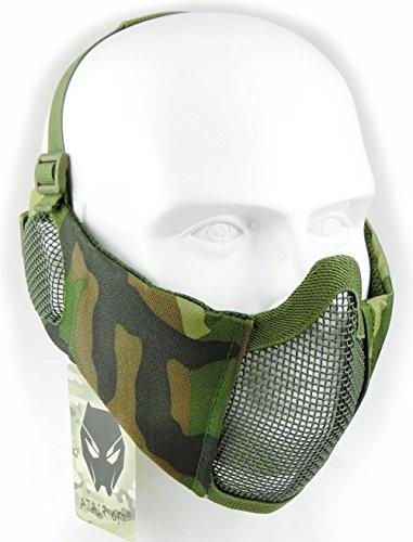 ATAIRSOFT Tactical Airsoft CS Schutzmaske aus Nylon mit halbem Gesichtsschutz und Ohrenschutz WL
