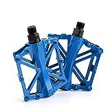 Srup 1 Pieza Pedal de Bicicleta, Pedales de Bicicleta de Aluminio, Plataforma de Pedales de Bicicleta, Accesorios de Bicicleta de Pedal, Pedal Universal de Aleación de Aluminio, Azul