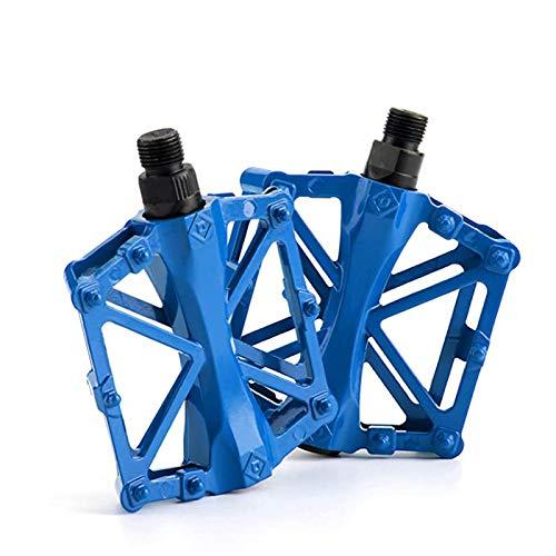 1 Stück Fahrradpedal MTB, Fahrradpedale Mountainbike, Fahrradpedale Aluminium, Pedal Fahrradzubehör, Aluminiumlegierung Universalpedal, Blau
