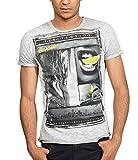 trueprodigy Casuale Uomo Maglietta Motivo Stampa Abbigliamento Urban Moda Girocollo Manica Corta Slim Fit Classic t-Shirt Moda Vestiti, Colori:DarkGrey, Dimensione:M