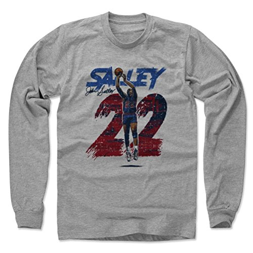 500 LEVEL John Salley Long Sleeve Shirt Large Heather Gray - Detroit basketball Fan Apparel - John Salley Rough R