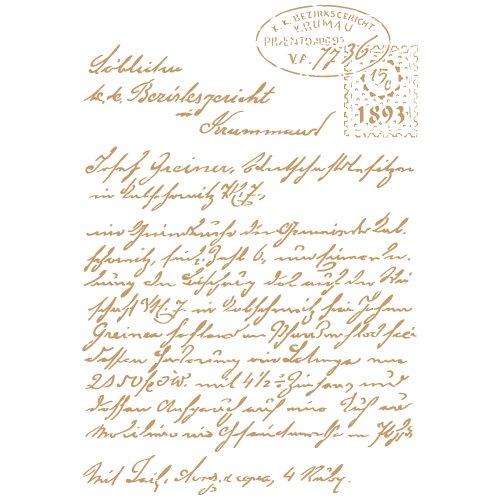 TODO STENCIL Deco Composición 231 Carta, Medidas: Stencil 20 x 30 cm - Diseño 18 x 27 cm