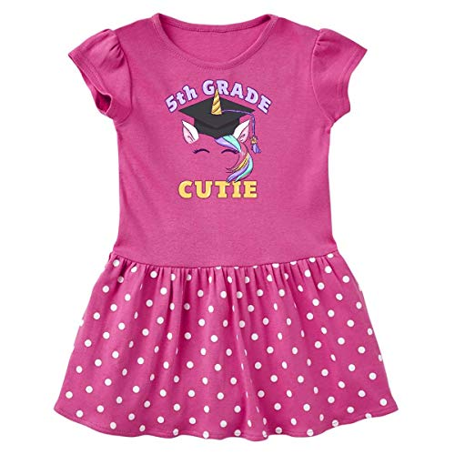 inktastic 5th Grade Cutie Toddler Dress 4T Raspberry with Polka Dots 3b6ed