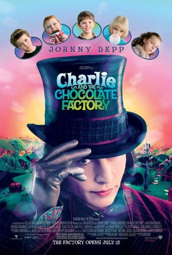 CHARLIE AND THE CHOCOLATE FACTORY - (2005) Original Authentic Movie Poster 27x40 - Dbl-Sided - Johnny Depp - Freddie Highmore - AnnaSophia Robb - Julia Winter - Tim Burton