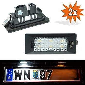 2x TOP LED SMD Kennzeichenbeleuchtung VW Touran 1T3  //ADPN