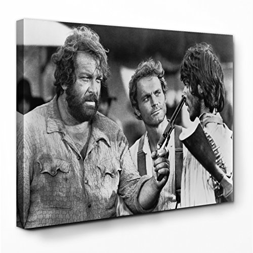Bud Spencer - Emiliano/Die rechte und die Linke Hand des Teufels - Leinwand (120x80cm)