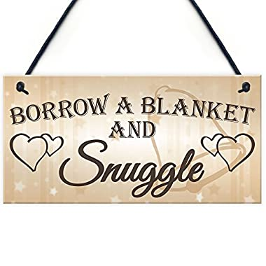 XLD Store Shabby & Chic Wedding Sign Gift Blanket Snuggle Present Plaque Vintage Guests Wedding Registry Gift List