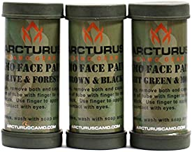 Arcturus Camo Face Paint Sticks - 6 Camouflage Colors in 3 Double-Sided Tubes | Compact Camo Concealment for Hunting, Paintball, Airsoft or Military Use