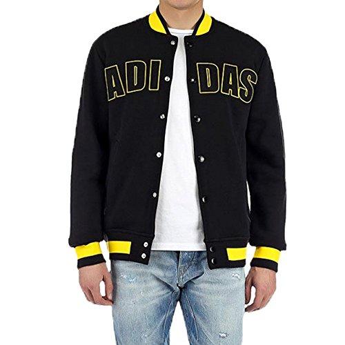 adidas Originals Varsity Herren Fleece Jacke (schwarz)