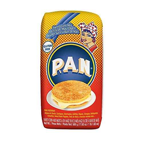 P.A.N. スイートコーン ミックス 粉 500g ×2個セット (賞味期限2021年11月13日) コーンケーキ カチャパ 作りに Sweet Corn Meal Mix