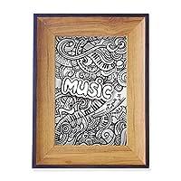 ヴァイオリン・ロック・ミュージックの巻線の絵 フォトフレーム、デスクトップ、木製