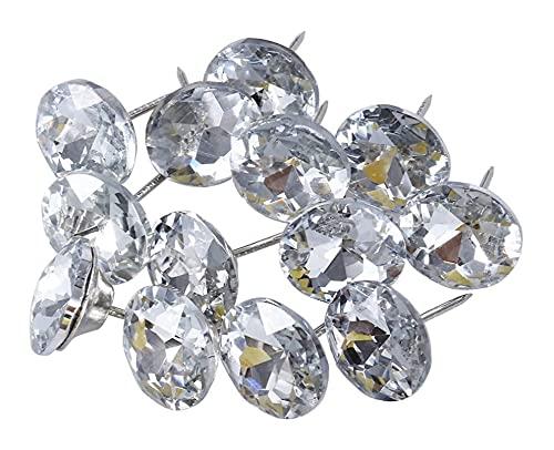 LIXBD 30 Stück Sofa-Kopfteil, Diamant-Kristall, Polsterknöpfe, Polsternägel, Möbelzubehör zum Nähen, Sofa-Polstern, Heimwerken, Basteln, 25 mm