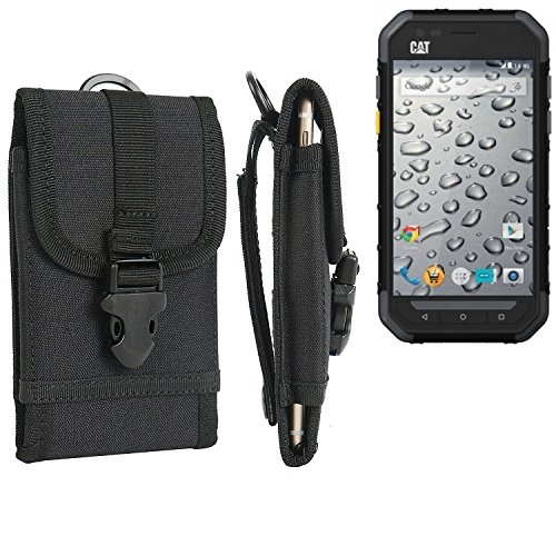 marsupio / custodia per Caterpillar Cat S30, nero | cassa del telefono calotta di protezione Smartphone sacchetto esterno / campeggio - K-S-Trade (TM)