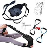 Healway Ligament Stretching Belt and 2 PCS Exercise Band, Yoga Stretching Strap, Gymnastics Ligament Stretching Strap Belt, Yoga Ligament Belt,Stretch Strap Belt with Loops from OUTLANDWAY