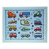 Junior-Knietablett für Kinder, Motiv: Fahrzeuge, für die Nutzung beim Fernsehen