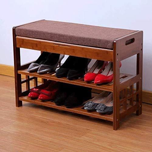KAYBELE Europea Zapatero de Zapatos Cambio de heces Simple Moderna Cama Fin de heces Puede Sentarse Zapatos Taburete de Madera Maciza de Zapatos Banco de Almacenamiento