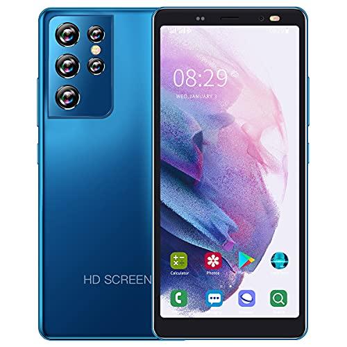 Smartphone Offerta del Giorno,5.5 IPS Display, 4GB ROM 32GB Espandibili Cellulare, Smartphone Android Cellulare Dual SIM Economici Telefoni Mobile 2800mAh Batteria Cellulari Offerte (S21Ultra-Blu)