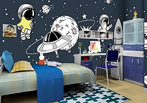 Wohngeräte 3D Wallpaper Leinwand Kunstdruck Wandbild Poster Foto Tapeten Wandbilder Bild Design Modernes Wohnzimmer Schlafzimmer Wohnkultur-Raumschiff Star Sky Space (250x175CM)