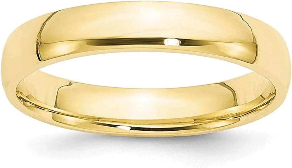 10k Yellow Gold 4mm Comfort Fit Wedding Ring Band Size 11.5 Classic Fine Jewelry For Women Gifts For Her
