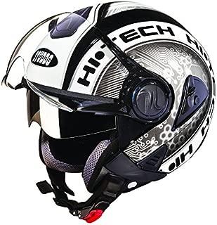Studds Downtown D2 Open Face Helmet (Black N4, XL)