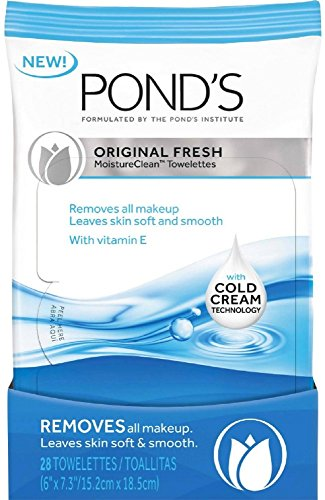 Pond's Original Fresh MoistureClean Towelettes With Cold Cream Technology 28 ea (Pack of 6)