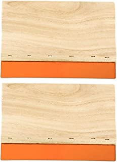 Caydo 2 Pieces 5.9 inch Screen Printing Squeegee, 75 Durometer Wooden Ink Scraper for Screen Printing