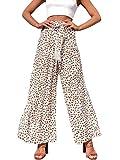 Miessial Women's Summer Boho Tie Waist Pants Loose Wide...