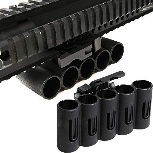 ACEXIER Portador de Soporte de Carcasa de liberación rápida de Pistola de Tiro de polímero táctico para Caza Airsoft Paintball Apto para Montaje en riel Picatinny de 20 mm