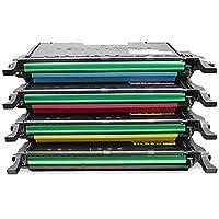 対応CLT-C508Lトナーカートリッジと互換性があり、Samsung CLP-620ND CLP-670DNカラートナーカートリッジに適合、チップなしの4色-black