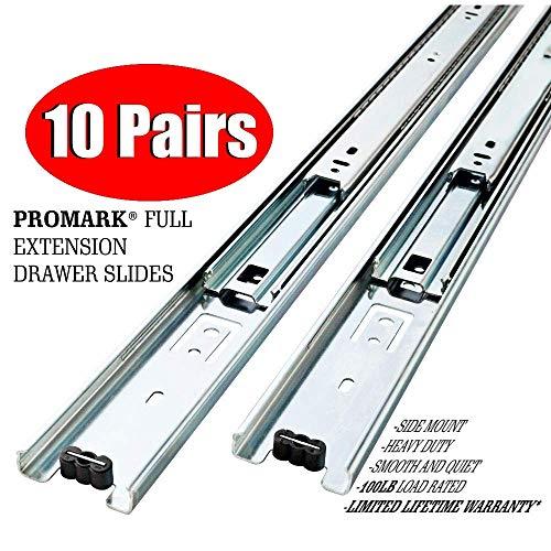 10 Pack Promark Full Extension Drawer Slide