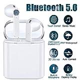i12 Auriculares Bluetooth 5.0,In-Ear Mini Auriculares Auriculares, Auriculares táctiles inalámbricos, micrófono Incorporado y Estuche de Carga, reducción de Ruido estéreo 3D HD de 36 Horas-Blanco