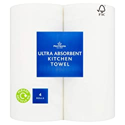 Morrisons Kitchen Towel Ultra White, 4 Rolls