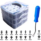 EZYKOO 465 Pcs Car Retainer Clips & Plastic...