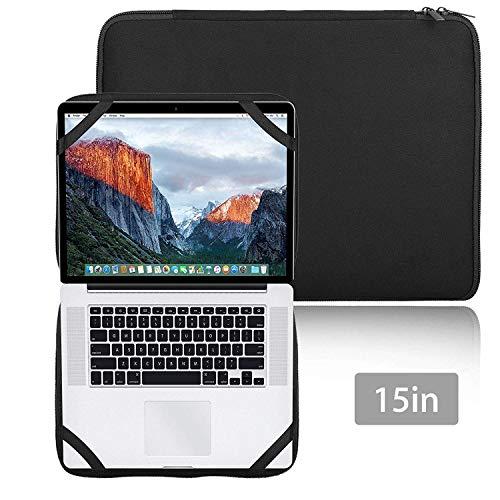 Gabriel 15 Inch Laptop Case Sleeve Protector Notebook Hoes met 4 Elastische Bands voor 15